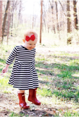 Mila & Rose B&W Stripe Twirl Dress