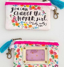 Natural Life Change The World ID Pouch
