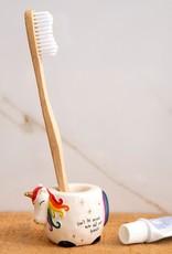 Natural Life Toothbrush Holder - Unicorn