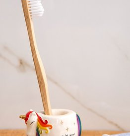 Natural Life Toothbrush Holder - Unicorn
