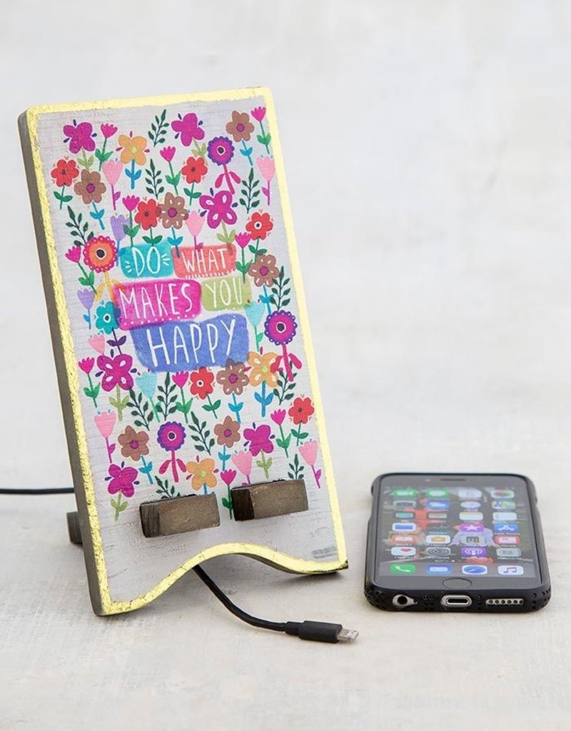 Natural Life Phone Stand - Happy