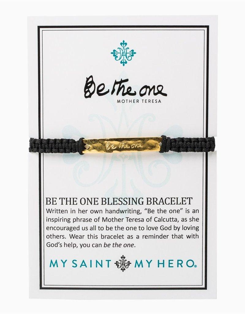 my saint my hero Be The One Bracelet - Black/Gold
