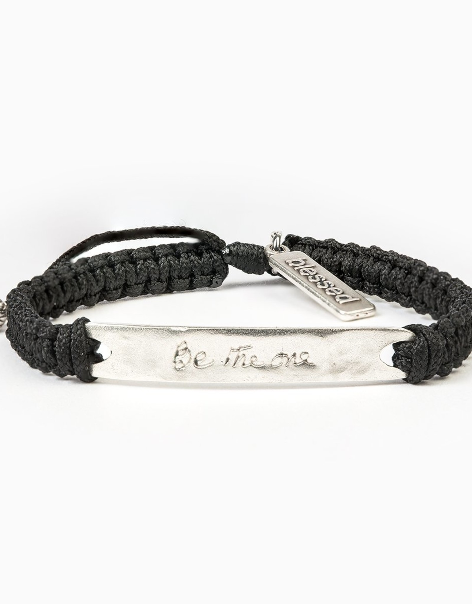 my saint my hero Be The One Bracelet - Black/Silver