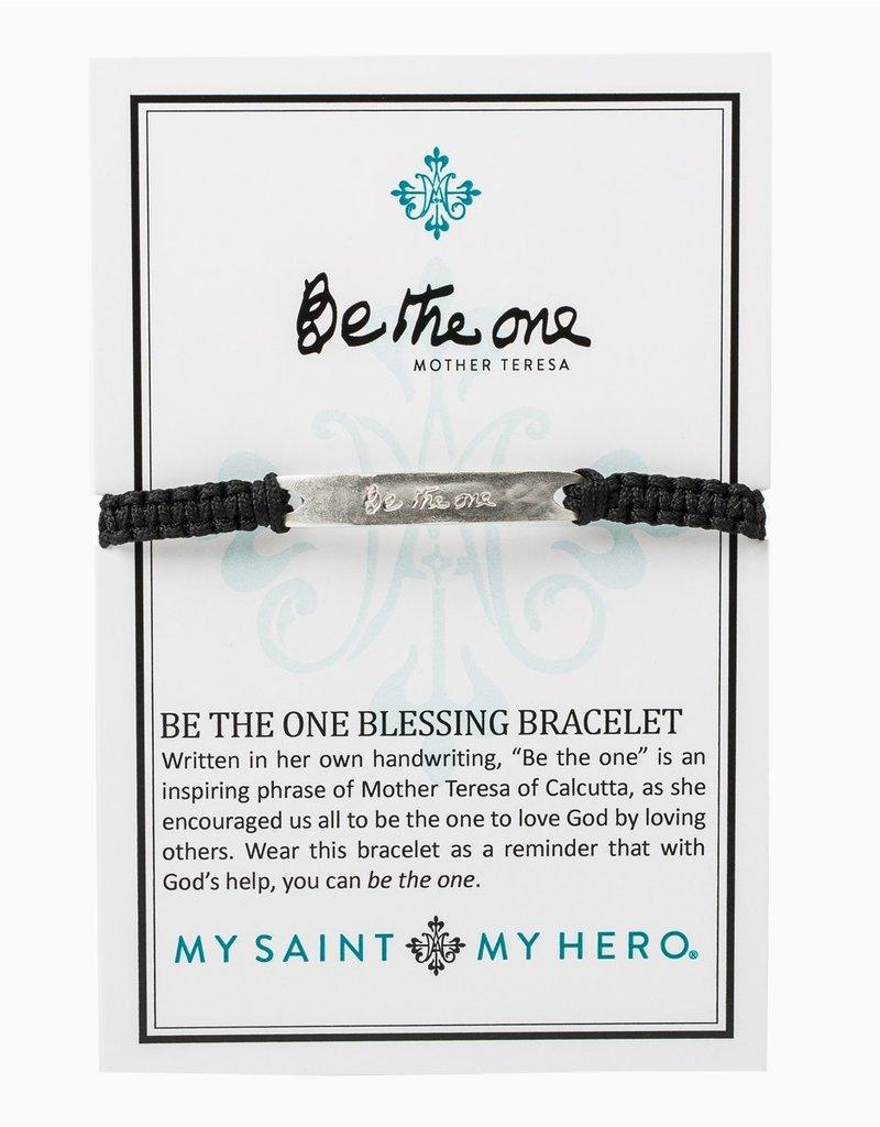 my saint my hero Be The One Bracelet - Black/Silver