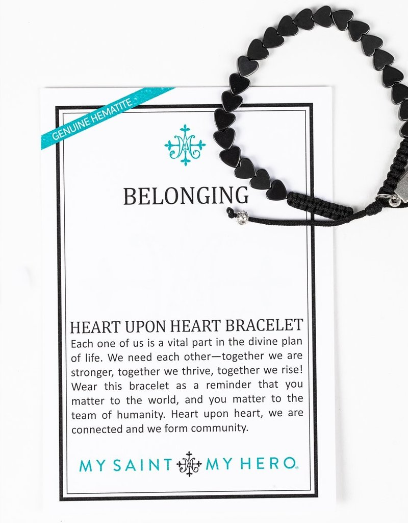 my saint my hero Belonging Heart Upon Heart Bracelet