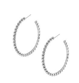 Natalie Wood Designs Beaded Hoops - Silver