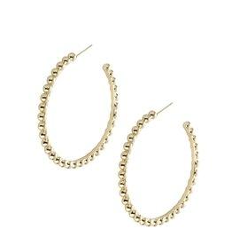 Natalie Wood Designs Beaded Hoops - Gold