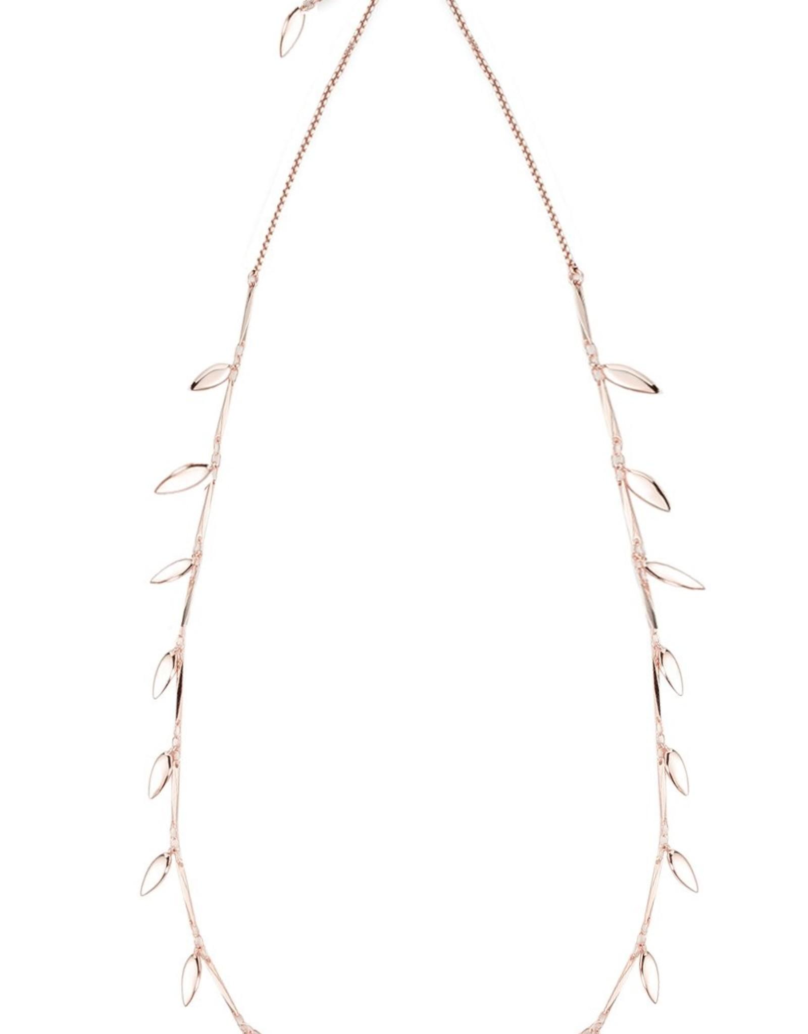Natalie Wood Designs Choose Happy Adjustable Necklace - Rose Gold