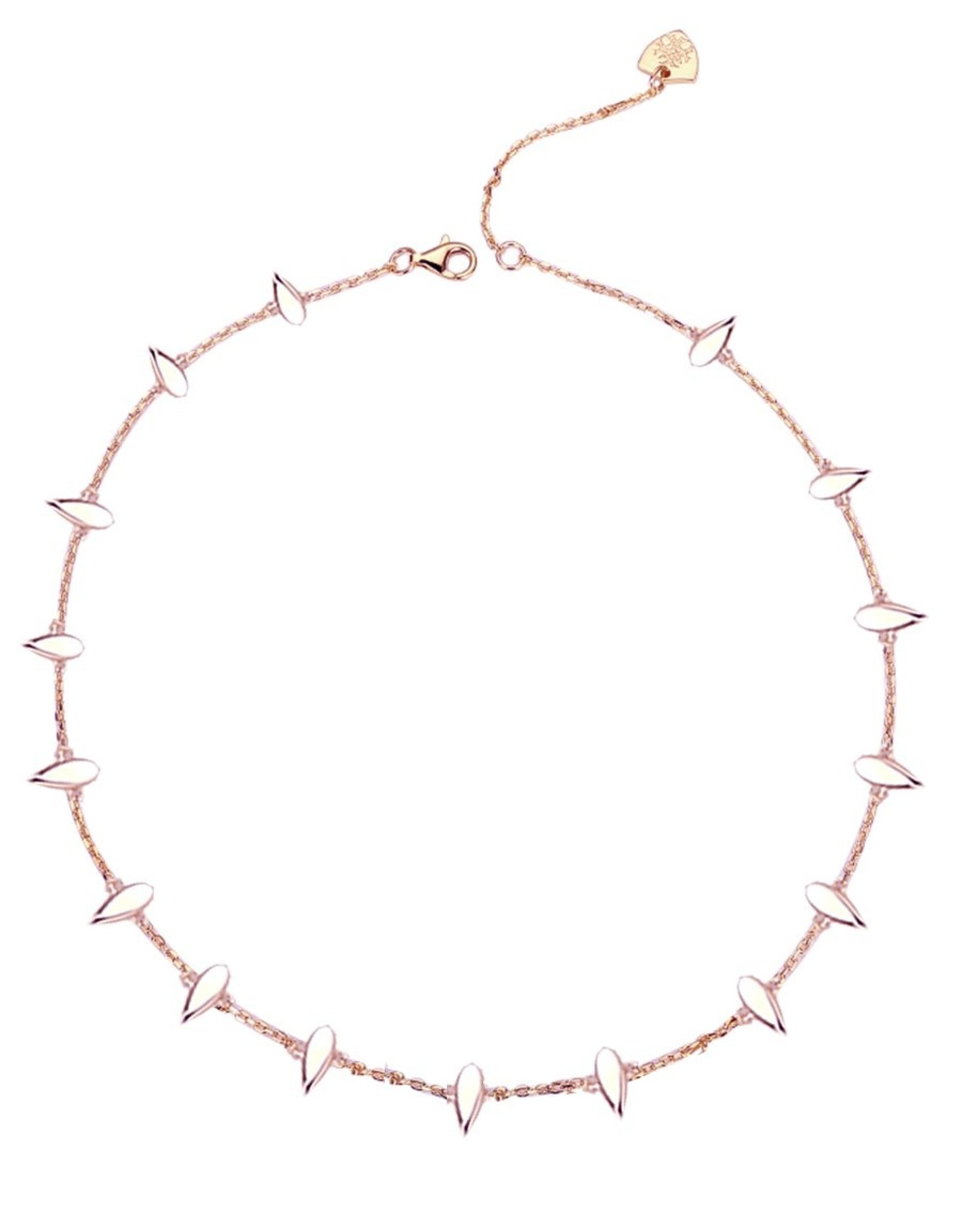 Natalie Wood Designs Choose Happy Mini Necklace - Rose Gold