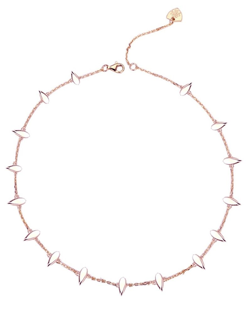 Natalie Wood Designs Choose Happy Mini Necklace - Rose Gold