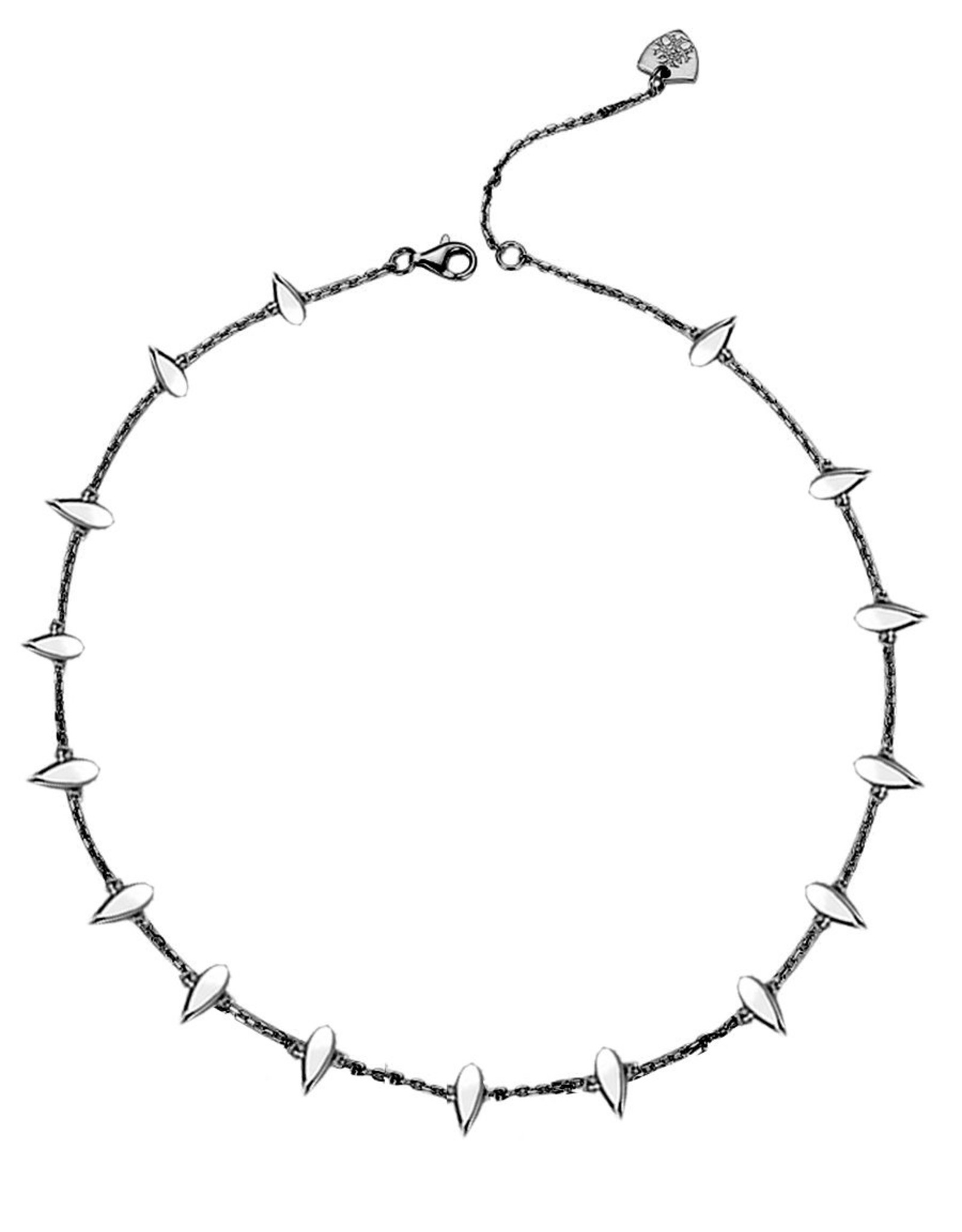 Natalie Wood Designs Choose Happy Mini Necklace - Gunmetal