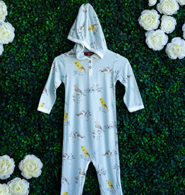 Blue Bird Hooded Romper