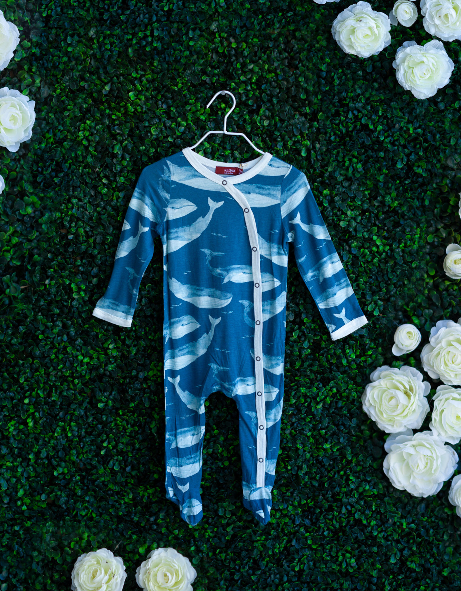 Blue Whale Footed Romper