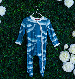 Milkbarn Blue Whale Footed Romper