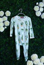 Milkbarn Potted Plants Footed Romper