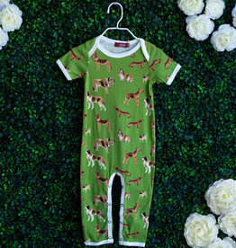 Milkbarn Green Dog Romper