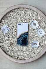 Black Gold Agate iPhone Case