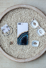 The Casery Black Gold Agate iPhone Case