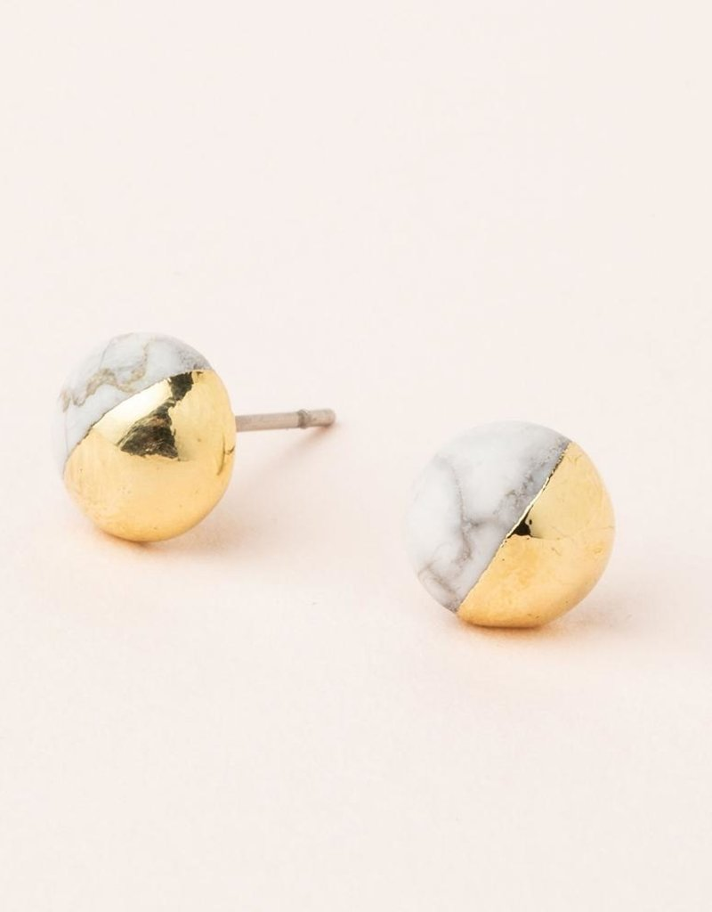 Scout Curated Wears Dipped Stone Stud Earrings