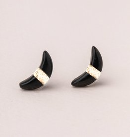 Scout Curated Wears Crescent Moon Stud  (6 Colors)