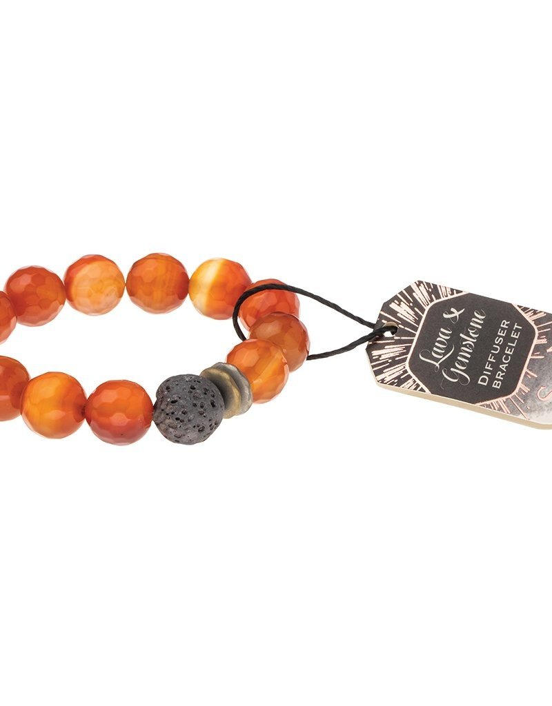 Scout Curated Wears Lava & Gemstone Diffuser Bracelet