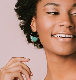 Scout Curated Wears Stone Prism Hoop Earrings (10 Colors)