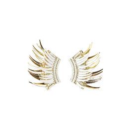 Michelle McDowell Venice Earrings - White