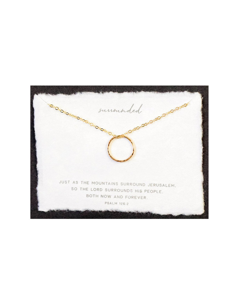 Dear Heart Surrounded Necklace - Gold
