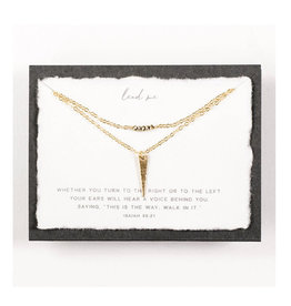 Dear Heart Lead Me Layered Necklace