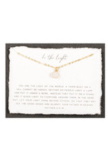 Dear Heart Be The Light Necklace - Gold