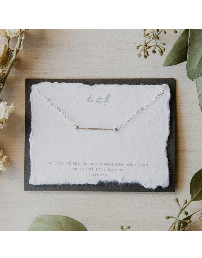 Dear Heart Be Still Necklace - Silver