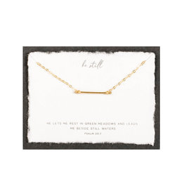 Dear Heart Be Still Necklace - Gold