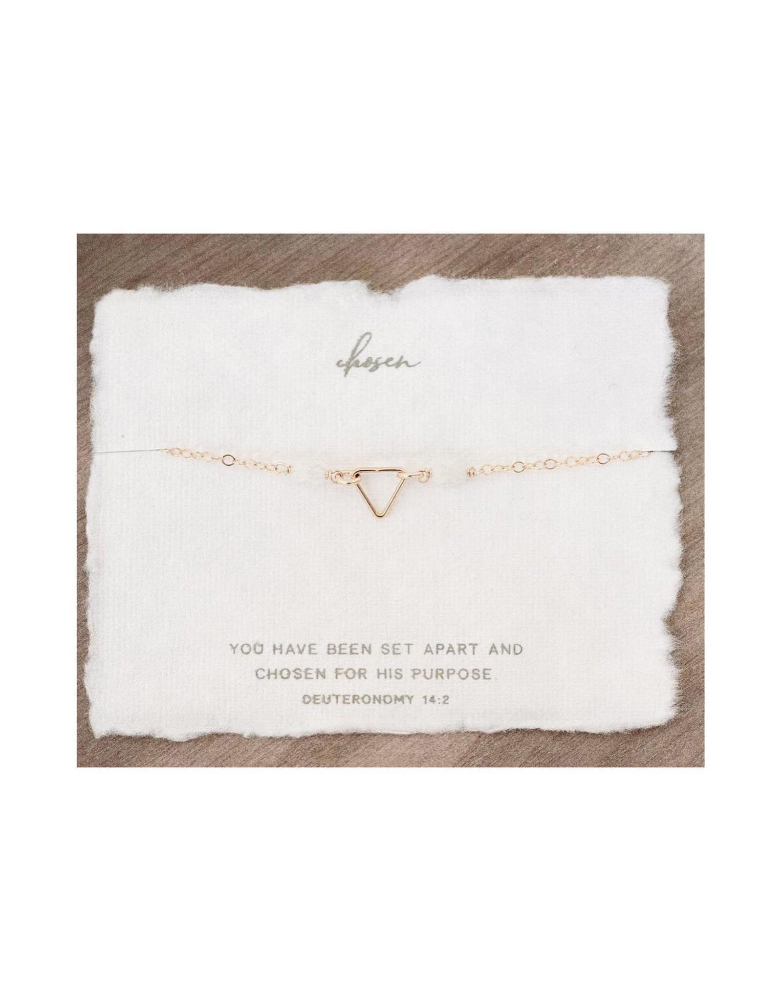 Dear Heart Chosen Necklace - Gold