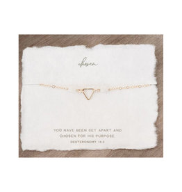 Dear Heart Chosen Necklace - Gold