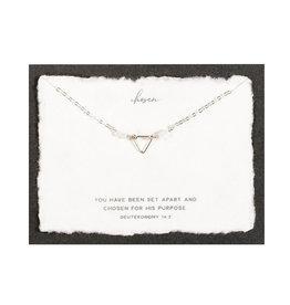 Dear Heart Chosen Necklace - Silver