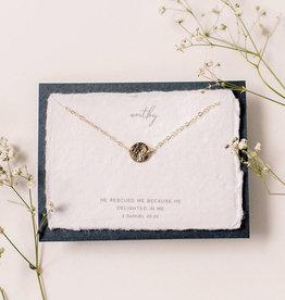 Dear Heart Worthy Necklace - Silver
