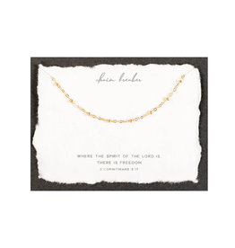 Dear Heart Chain Breaker Necklace