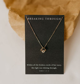 Dear Heart Breaking Through Necklace