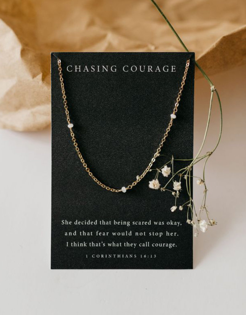 Dear Heart Chasing Courage Necklace