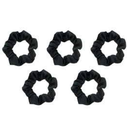 kitsch Satin Sleep Scrunchies - Black