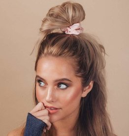 kitsch Satin Sleep Scrunchies - Blush