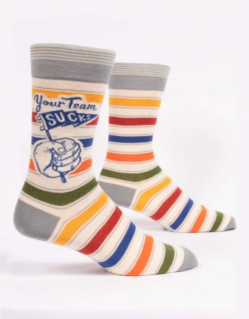 Blue Q Your Team Sucks Men's Socks
