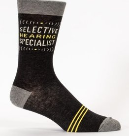 Blue Q Selective Hearing Men's Socks