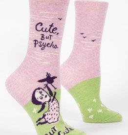 Blue Q Cute But Psycho Crew Socks