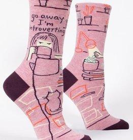 Go Away Introverting Crew Socks