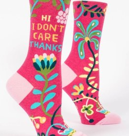 Blue Q Hi I Don't Care Crew Socks