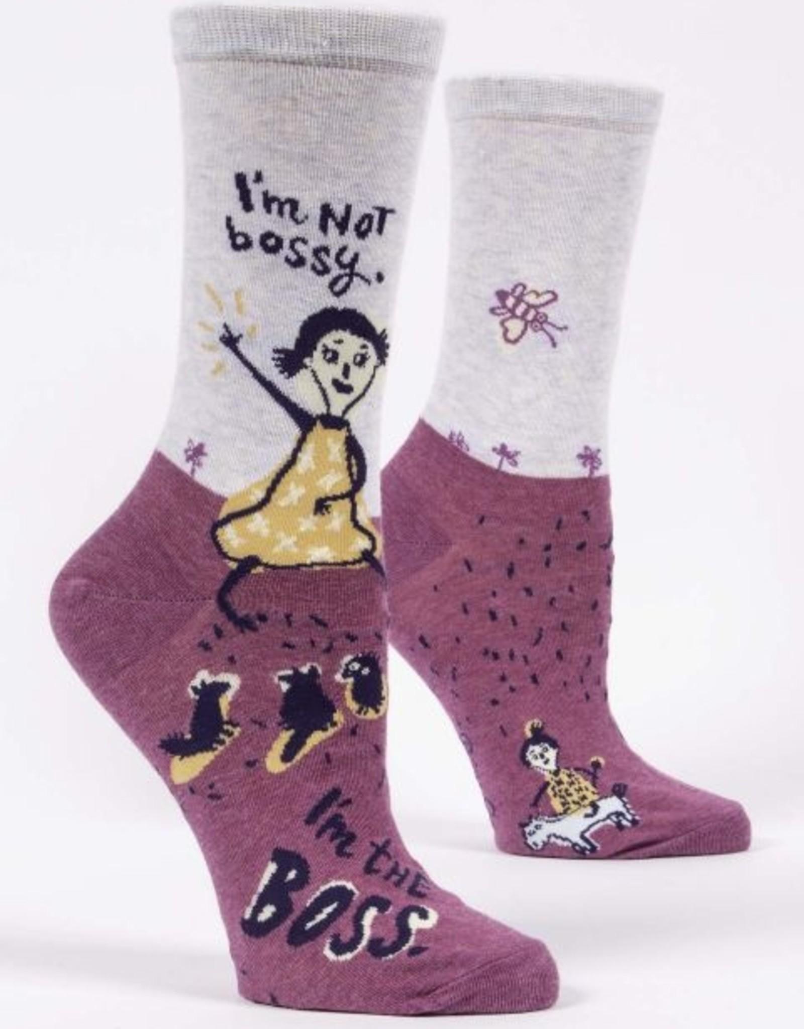 I'm Not Bossy Crew Socks