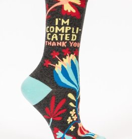 Blue Q I'm Complicated Crew Socks
