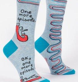 Blue Q One More Episode Crew Socks
