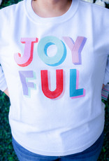 Jadelynn Brooke Joyful Corded Fleece Sweatshirt